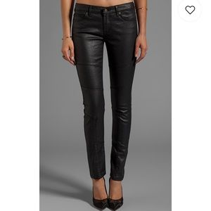 Rich and skinny coated black jeans